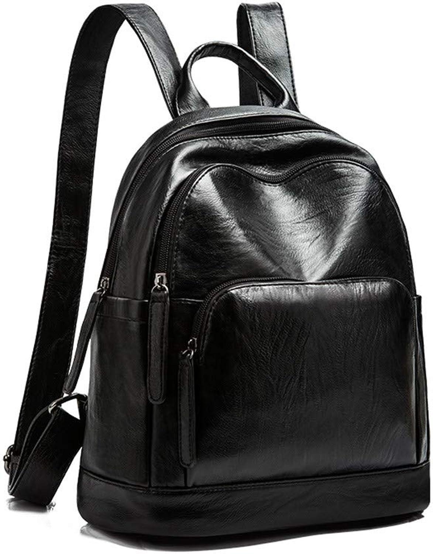 H-M-STUDIO Bag Casual Recreation Soft Leather Personality Bag Wild Black 27  14  30Cm