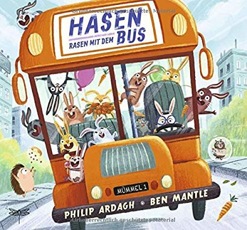 Hasen rasen mit dem Bus