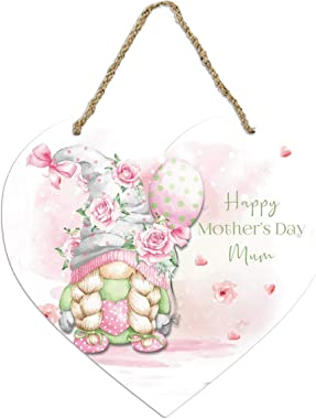 【Shiping from US!!!】 Welcome Sign Front Door Decor - Creative Heart-Shaped Door Hanger Happy Mother's Day Sign, Home Sign