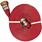 """JGB Enterprises A008-0321-1200 Eagle Red PVC Discharge Hose, 2"""" x 100', Male x Female Water Shank Couplings, 150 psi Working Pressure, -14 Degree F to 170 Degree F"""