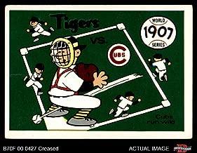 1970 Fleer World Series # 4 1907 Cubs vs. Tigers Cubs/Tigers (Baseball Card) Dean's Cards 3 - VG Cubs/Tigers
