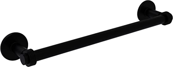 Allied Brass Matte Black Continental Collection 36 Inch Towel Bar with Groovy Detail