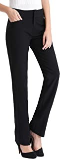 Women's Dress Pant with Side Pockets, Straight Leg Pant...