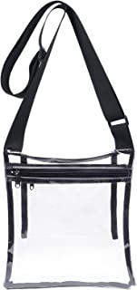 Clear Crossbody Purse Bag, Stadium Approved, with Extra...