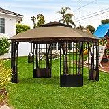 Garden Winds Sutton Pagoda Gazebo Replacement Canopy Top Cover -...