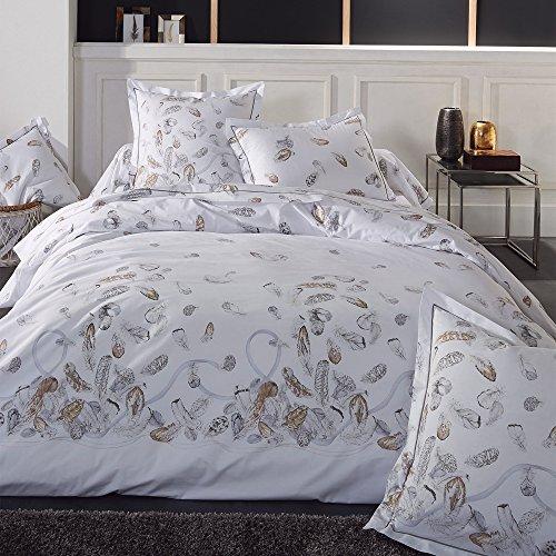 Linnea Plumes Juego de cama, 280 x 240 cm, percal de algodón