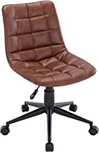 PU Leather Office Chair Swivel Computer Desk Chair, DM Furniture Adjustable Task Chair Reception Chair for Home, Office, C...