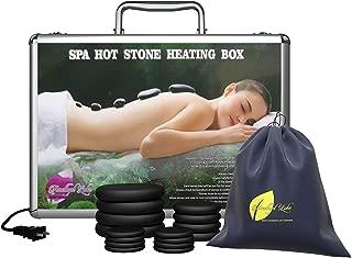 Portable Hot Massage Stone Heater Kit 16 Stones Warmer Set E-book