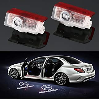 Car Door LED Logo Projector Light,Easy to Install 3D Shadow Courtesy Step Lights Welcome Emblem Lamp Compatible with Mercedes-Benz E A B C ML GL Class