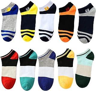 10 paia di calze alla caviglia casual a taglio basso, per uomo, ragazzi, traspiranti, per sport all'aria aperta