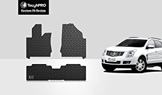 ToughPRO Floor Mats Set (Front Row + 2nd Row) Compatible with Cadillac SRX - All Weather - Heavy Duty - (Made in USA) - Black Rubber - 2010, 2011, 2012, 2013, 2014, 2015, 2016