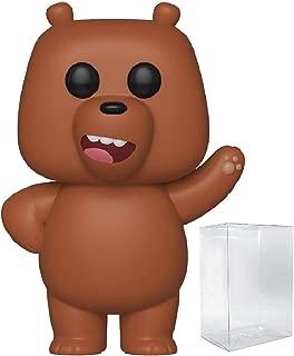 Funko Animation: We Bare Bears - Grizz Pop! Vinyl Figure (Includes Compatible Pop Box Protector Case)