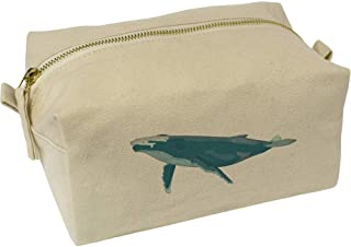 'Blue Whale' Canvas Wash Bag / Makeup Case (CS00019566)