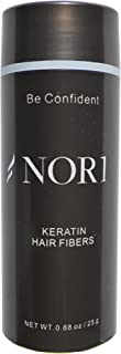 Nor1 Keratin Hair Building Fibers: Hair Fiber Filler and Thickener for Men and Women - Cover Up and Concealer for Thinning Areas or Minor Bald Spot - Thicker, Fuller Hair in Seconds - 25 grams