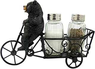Savory Delivery Bear on Bicycle Salt and Pepper Shaker Holder