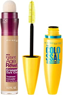 Maybelline New York Instant Age Rewind Concealer, Medium, 6g and Maybelline New York Volume Express Colossal Masacara, Wat...