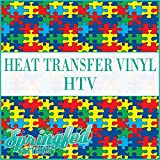 AUTISM PUZZLE PATTERN HTV Puzzle Pieces Heat Transfer Vinyl 12'x14' HTV for Shirts