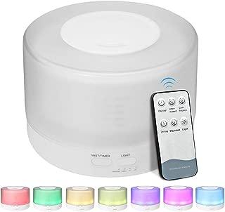 加湿器 アロマディフューザー 超音波式 EIVOTOR 卓上加湿器 アロマ 500ml 7色LEDライト変換 間接照明 空焚き防止 お部屋/オフィス/温泉など適用 誕生日プレゼント 1年保証