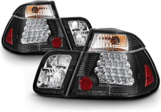 VIPMOTOZ Black Bezel Premium LED Tail Light Housing Lamp Assembly For 1999-2001 BMW E46 3-Series Pre-LCI Sedan Driver and Passenger Side Replacement