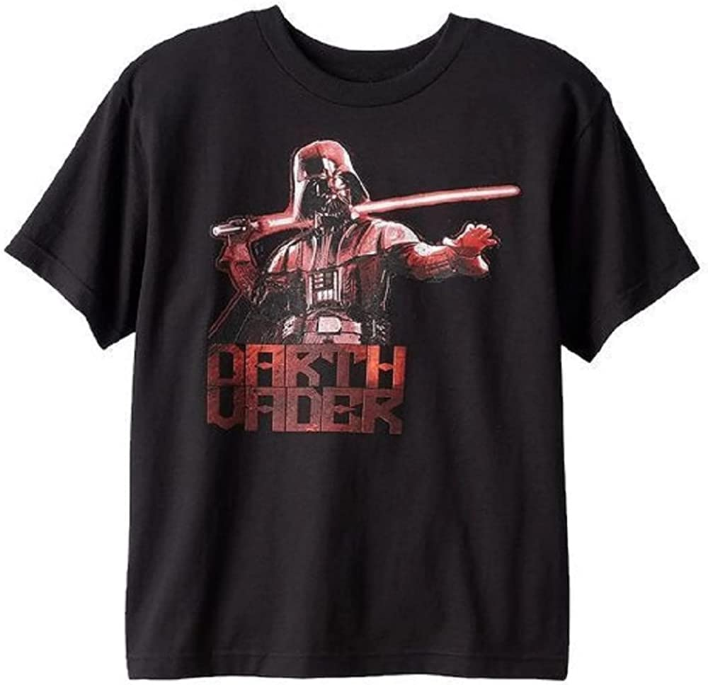 Mad Engine Star Wars Darth Vader 'Flame' Tee T-Shirt ~ Big Boys Large ~ Black