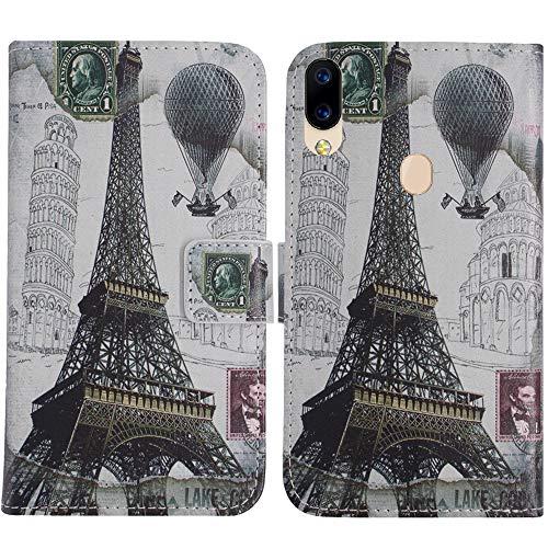 TienJueShi Eiffelturm Flip Stand Brief Leder Tasche Schütz Hülle Handy Hülle Für Archos Oxygen 57 5.71 inch Abdeckung Fall Wallet Cover Etüi