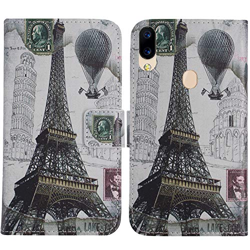 TienJueShi Eiffelturm Flip Book Stand Brieftasche Leder Tasche Schütz Hülle Handy TPU Silikon Hülle Für Archos Oxygen 63 6.26 inch Abdeckung Wallet Cover Etüi