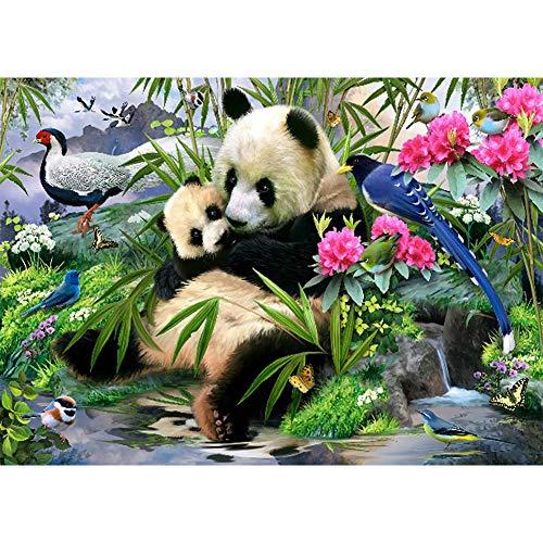 Sunnay Diamond Painting Set,Panda,5D Diamant Art Painting Kaufen Full Stickerei Groß 3D Bilder DIY Diamonds Shop,30 x 40 cm