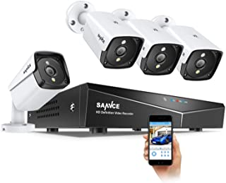 【New 2020】 SANNCE POE Security Camera System for 24/7 Recording, 4X5MP(2560TVL) XPOE Indoor Outdoor Security Cameras with ...