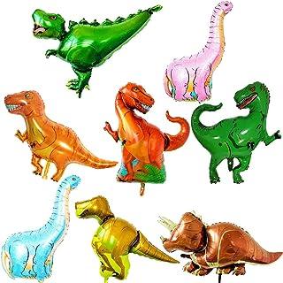 ED-Lumos 8Pcs Giant Dinosaurs Reusable Helium Balloons for Birthday Party Decoration Kids Gift