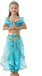 Tutu Dreams Jasmine Princess Costume for Girls Birthday Halloween Dress Up Outfit