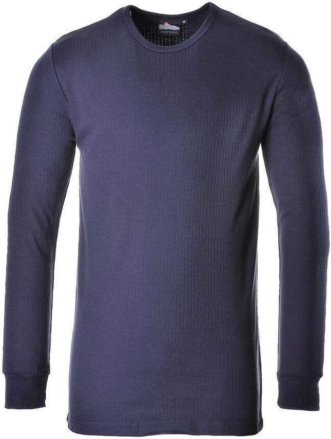 Portwest UB216NAR5XL Regular Fit Thermal T-Shirt Long Sleeve, 5X-Large, Navy