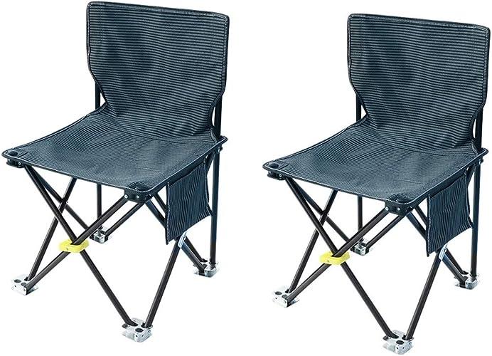 Nevy Camping Chaises Pliantes Poids Léger en Plein Air Les Loisirs La Pêche Plage Siège avec Poche