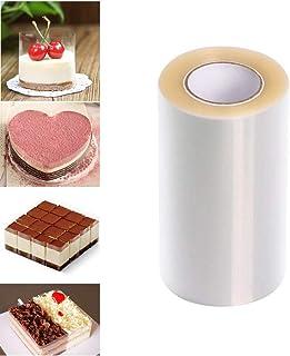 Taartkraag 8cmx 10m, Transparante Acetaat Strips Clear Acetate Roll 8cm Hoge Mousse Taartkraag voor Chocolade Mousse Bakin...