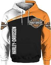 3D Digitaal Harley Davidson-Sweatshirt Casual Sweatshirt, Unisex 3D-Print Hoodie Sweater Met Capuchon En Lange Mouwen Met ...