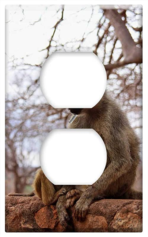 Switch Plate Outlet Cover Monkey Baby Animal Family Wild Mammal Safari