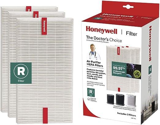 Amazon Com Honeywell Hepa Allergen Remover Filter 3pack White Home Kitchen