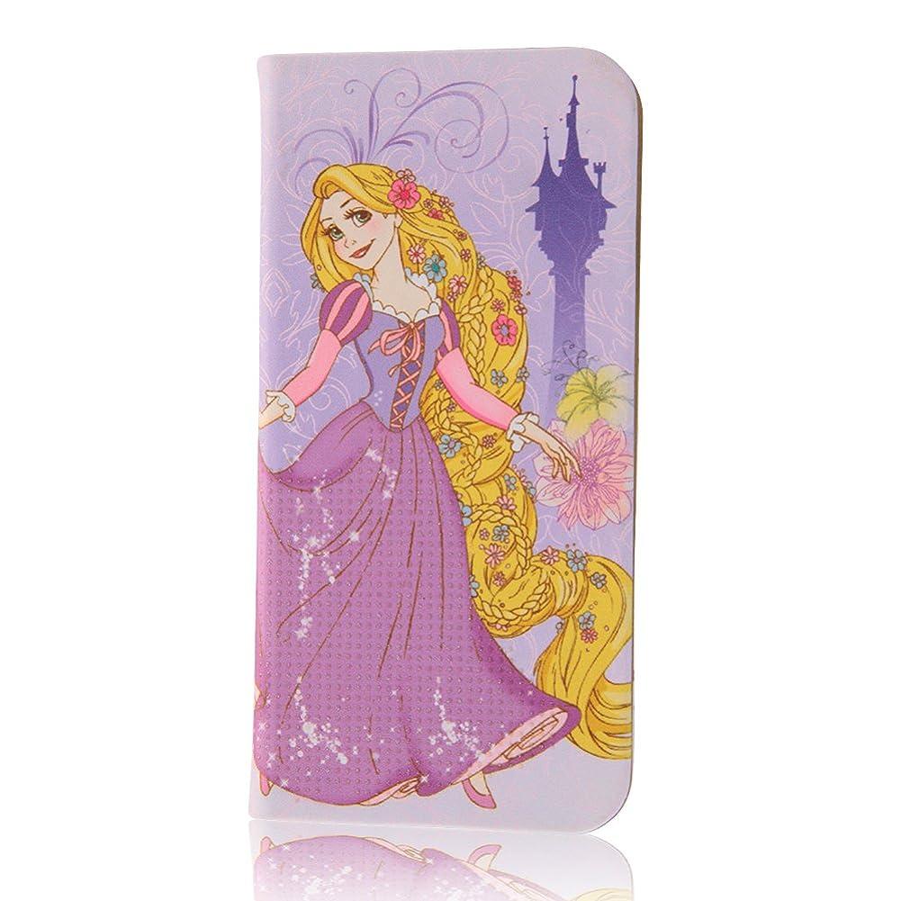 臭い投げ捨てる小売イングレム iPhone7ケース ディズニー 手帳型 ケース プリンセス ラメ グロッシー/ラプンツェル  IN-DP7O/RZ