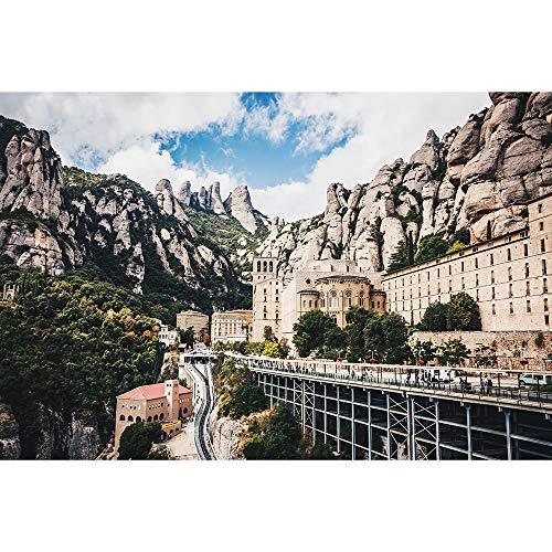 Monasterio De Montserrat Adultos Rompecabezas, Rompecabezas De Madera Barcelona, España Serie del Paisaje Decorativo Juguetes Educativos Regalo 500-6000 Piezas 0602 (Size : 3000 Pieces)