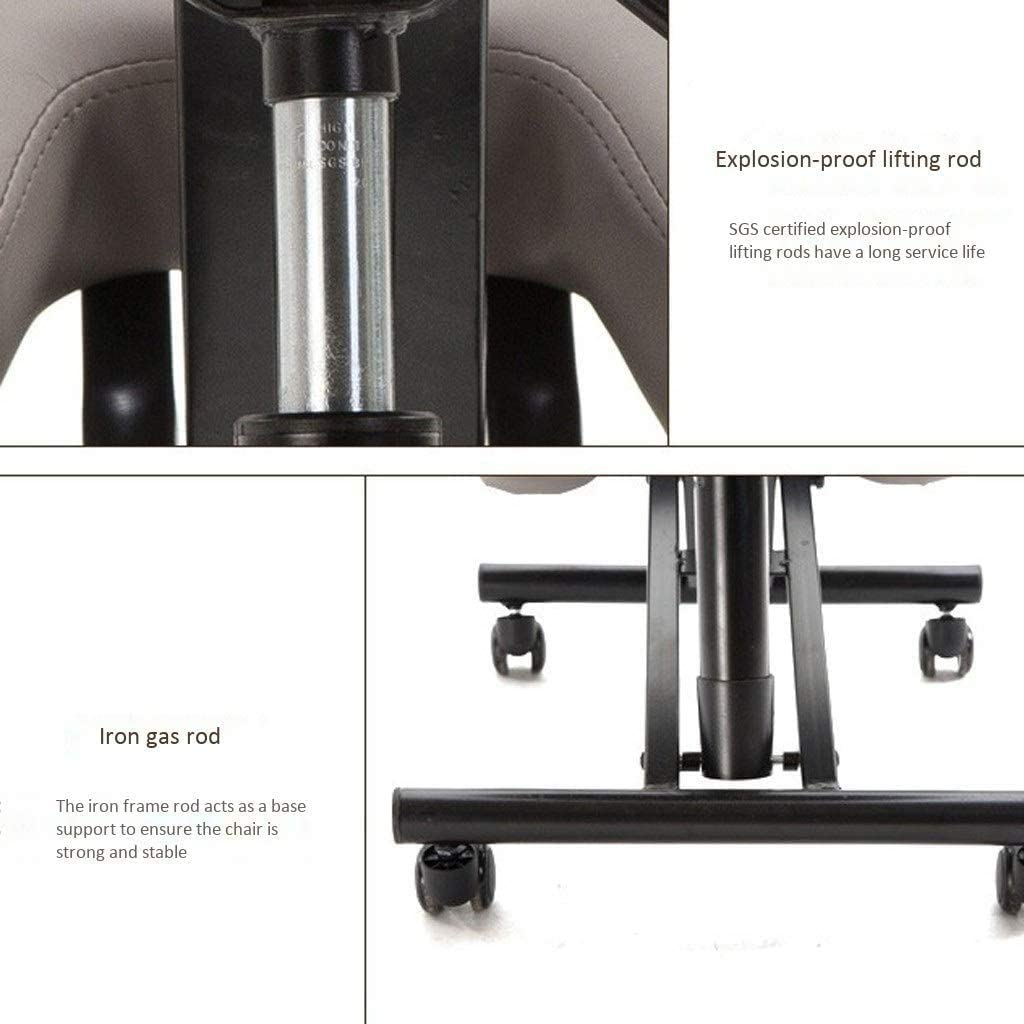 Genoux Chaises ergonomiques Chaise de bureau réglable enfants orthopédique Tabouret en cuir PU Hauteur d'assise Correction Posture Tabouret (Color : Gray 2) Gray 1