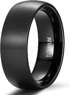 خاتم زفاف مقبب مصقول مصنوع من التيتانيوم بعرض 4 ملم 6 ملم 8 ملم من تيجريد، ملاءمة مريحة مقاس 4 - 14.5