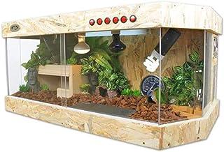Reptile House Live Wooden Amphibian Cage Tortoise Breeding Box Climbing Pet Lizard Insect Feeding Sliding Door Insulation ...