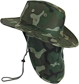 Boonie Bucket Hat Neck Flap Tactical Wide Brim Outdoor Military