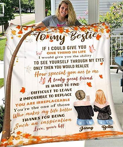 Personalized to My 流行のアイテム Bestie Blanket Friendship Tree Custom 奉呈 N Maple