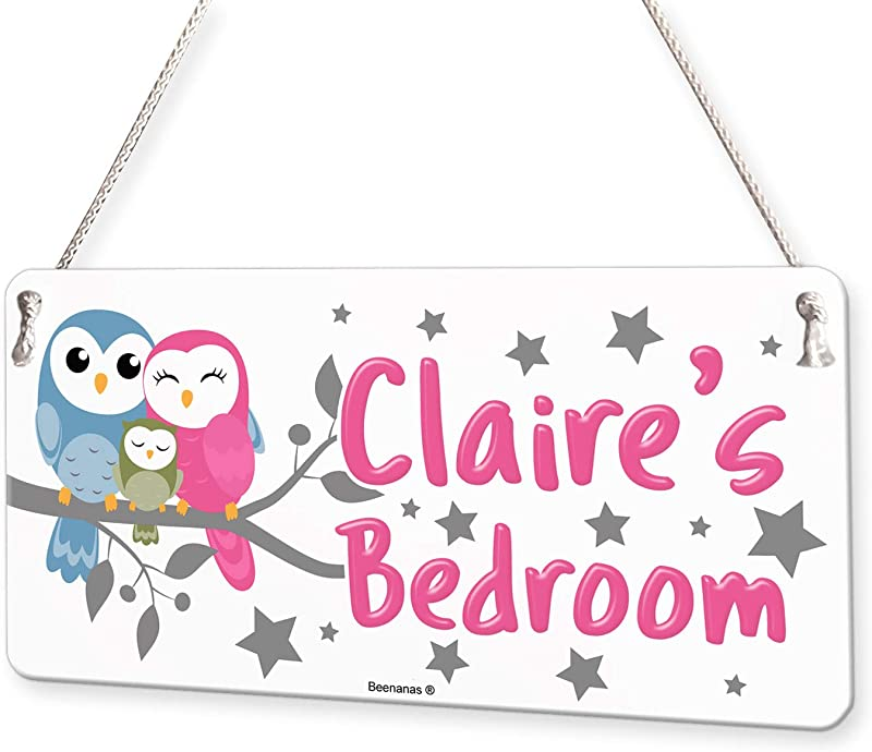 Owl Family Personalised Childs Bedroom Door Sign Name Plaque