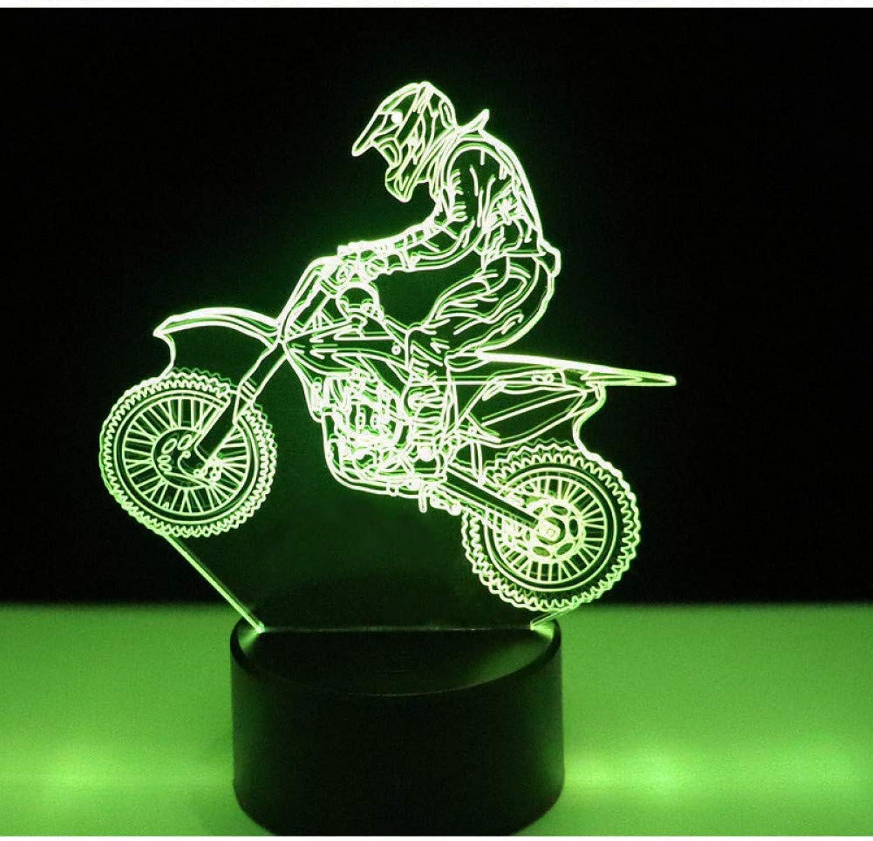 Sakj-d Led-Nachtlicht-Fahrt Cross-Country-Motorrad Mit 7 Farben Licht Für Heimtextilien Lampe Erstaunliche Visualisierung Optisch