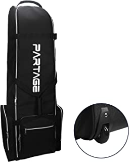 Partage Golf Travel Bag with Wheels, Golf Travel Case for Airlines -Black