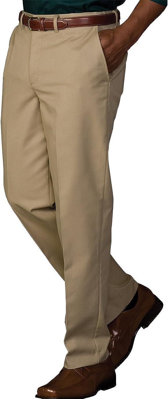 Edwards Garment Men's Casual Chino Blend Easy Fit Pant, KHAKI, 48 28
