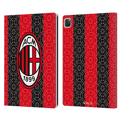 Head Case Designs Officially Licensed AC Milan Home 2020/21 Crest Kit Leather Book Wallet Case Cover Compatible with Apple iPad Pro 12.9 (2020)