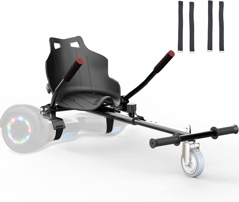 Hoverkart para Patinete Electrico Adulto Hoverboard niños Silla Kart para Self Balancing Scooter Overboard con Asiento 6.5/8 / 8.5/10 Pulgadas