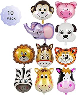 Borang 10 Pieces Jungle Safari Animals Balloons 22 Inch Giant Zoo Animal Balloons Kit For Jungle Safari Animals Theme Birthday Party Decorations Kids Gift Birthday Party Décor